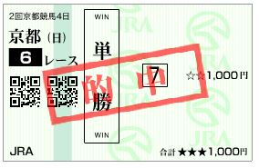 京都6R_単勝