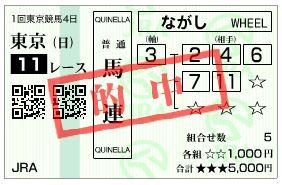 東京新聞杯_馬連