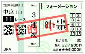 金鯱賞3連複